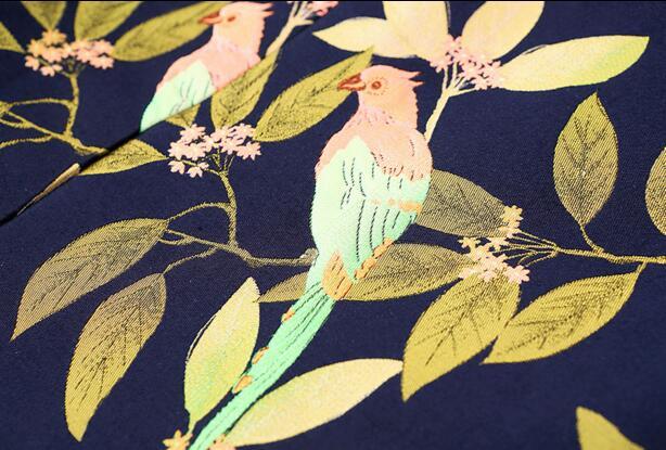 Les Manteau Pour Slim As Pardessus Picture Jacquard Fleurs Rétro Automne Tranchée Taille Double Longue Broderie La X breasted 2019 Femmes Nouvelle Oiseaux Plus Et wqFax6xA