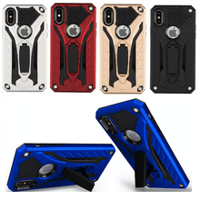 ФОТО hybrid armor case for iphone se x 8 7 6 6s 5 5s samsung galaxy s9 s8 plus s7 edge a3 a5 a7 note 5 8 case cover stand pc+tpu back