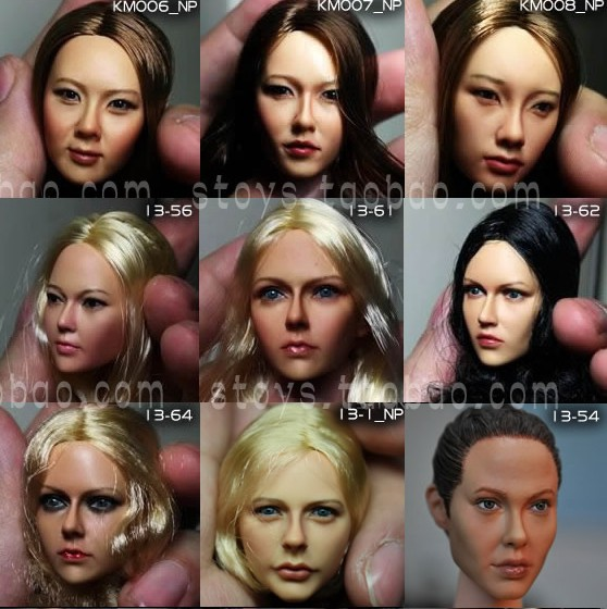 1/6 scale female head shape for 12 action figure doll accessories doll head carved not include the body,clothes and other 13-85 1 6 figure doll head shape for 12 action figure doll accessories game of death bruce lee head carved not include body clothes