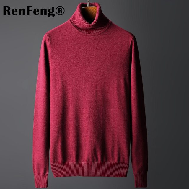 69f8572da43eaf men clothes 2019 winter sweater men turtleneck sweaters pullovers shirt  pull homme long sleeve sweater black blue red gray
