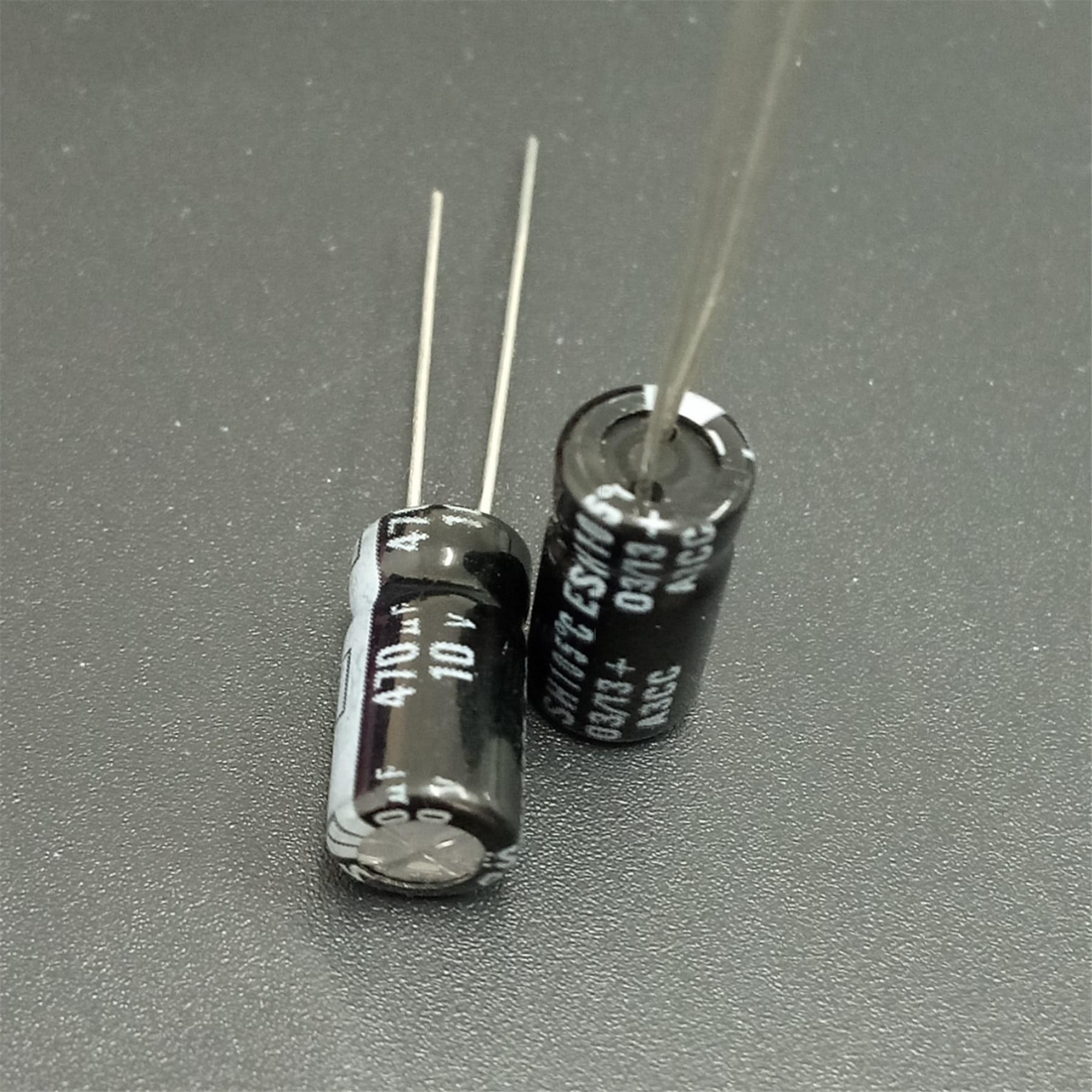 100pcs 470uF 10V KEMET ESH Series 6.3x12mm 10V470uF Aluminum Electrolytic Capacitor