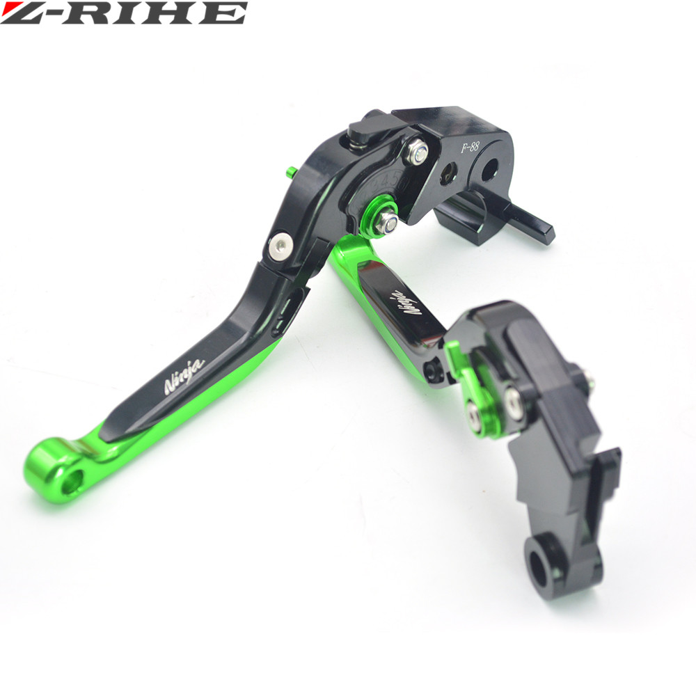 For Kawasaki Motorcycle Brake Levers adjustable Folding Bike extensible CNC Clutch For Kawasaki Ninja ZX6R 636  2007 2008 - 2016 for kawasaki ninja 250 ninja250 2008 2015 ninja 300 ninja300 2013 2015 motorcycle aluminum short brake clutch levers black