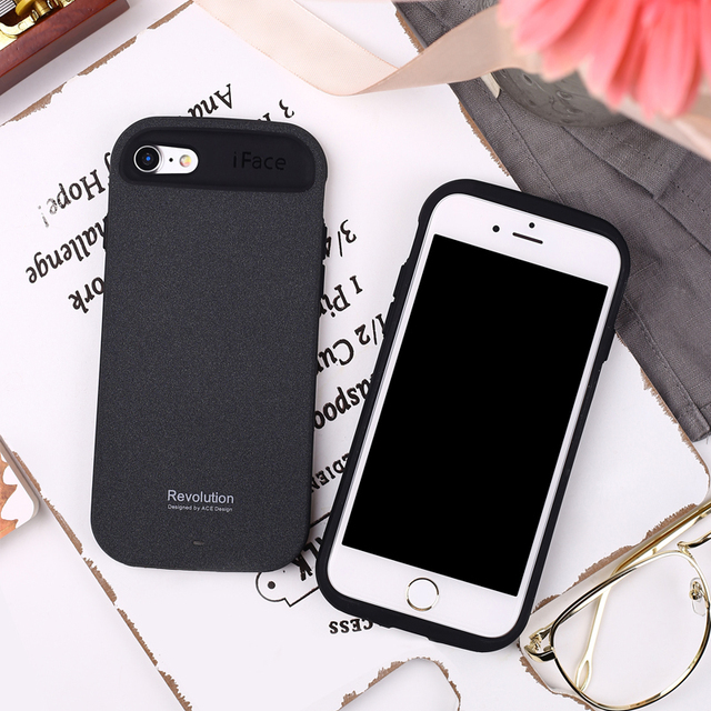 buy popular 27b7c 7e005 US $5.5 5% OFF|iFace for iphone 8 7 6 6S Plus Case ACE PC Soft Matte TPU  Back Cover protective coque cases 2 in 1 rugged for iphone X case-in Fitted  ...