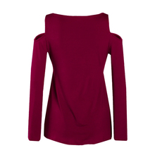 2018 Plus La Taille 5XL Printemps Femmes T-shirt Sexy V-cou Dentelle Up rosée Épaule T Shirt Femme Casual Slim À Manches Longues T-shirts Tops