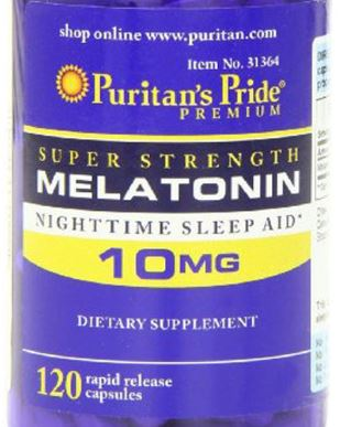 NEWNEW PRIDE--Free Shipping Melatonin 10 Mg-120 Caps Night Time Sleep Aid