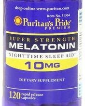 NEWNEW PRIDE  Free shipping Melatonin 10 Mg 120 Caps Night Time Sleep Aid