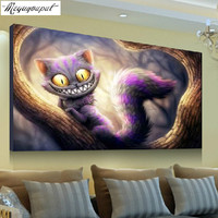 New Arrival 5D Cross Stitch Diamond Painting COOL CAT Gift For Home Decoration Free Shipping Animal