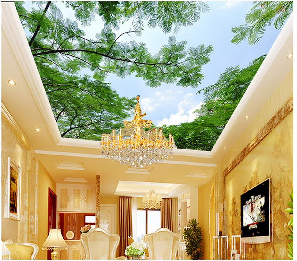 3d ceiling murals wallpaper Sky Trees Trees Zenith Mural wallpaper 3d ceiling living 3d wallpaper high definition sky blue sky ceiling murals landscape wallpaper living room bedroom 3d wallpaper for ceiling