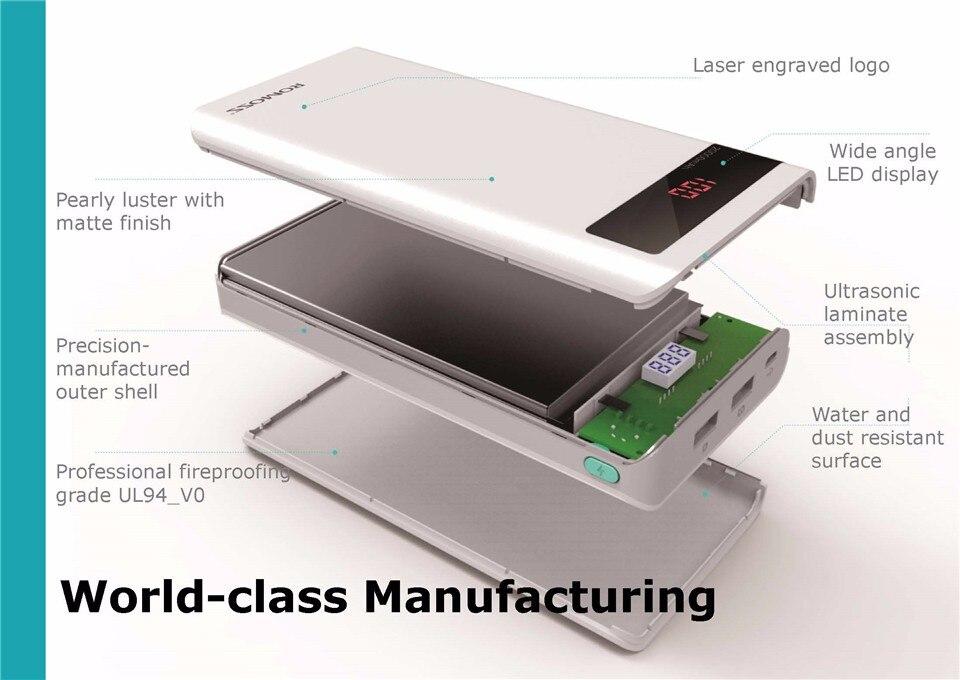 ROMOSS Sense 6P 20000mAh Power Bank Dual USB Portable External Battery 14