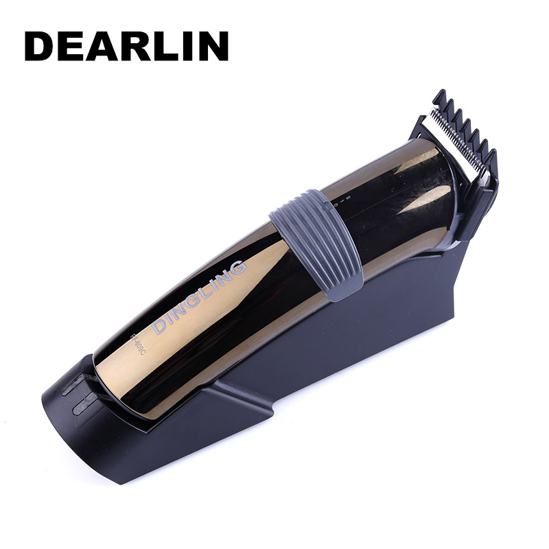 Dearlin Dingling RF-609C New Rechargeable Hair Trimmer Professional Hair Clipper Beard Trimmer Clips Men Shaving Machine Cutting dingling ef607 rechargeable hair clipper trimmer w accessories set black orange ac 220