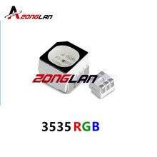 500pcs smd 3535 светодиодный rgb PLCC6 3-в-1 SMD светодиодный полный Цвет светодиодный 3535 RGB 3-чип, наружный полно-Цвет видео Экран