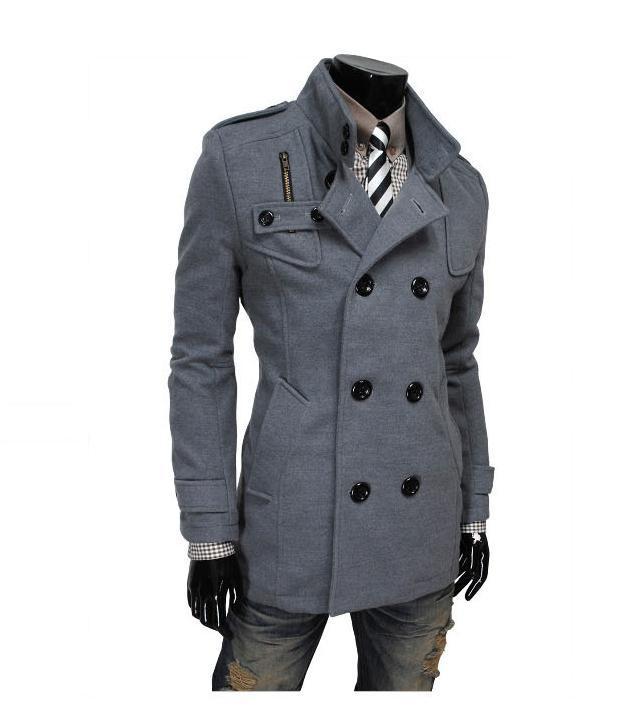 New Man woolen Down Famous Brand Wool Blends 2015 Winter mens Coat ...