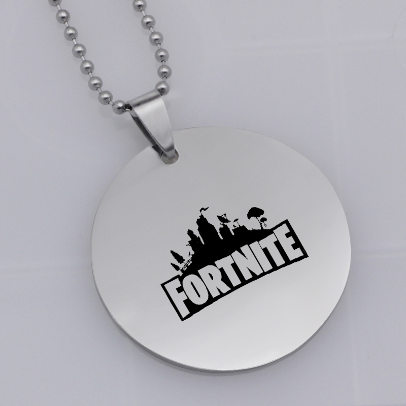Ufine FPS Game Axe pendant Fortnite pick pendant stainless steel jewelry necklace Customed words or name necklace N457