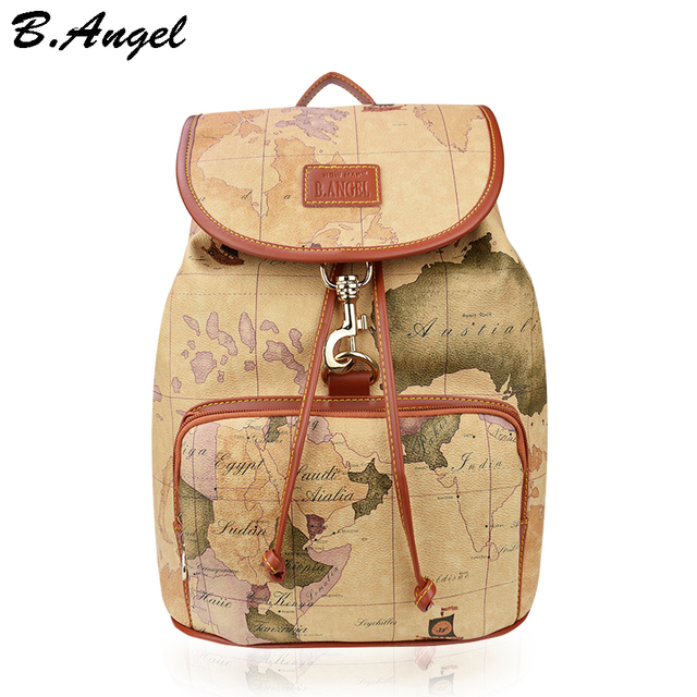 Designer backpack women high quality world map backpack leather designer backpack women high quality world map backpack leather men backpack big travel backpacks vintage school gumiabroncs