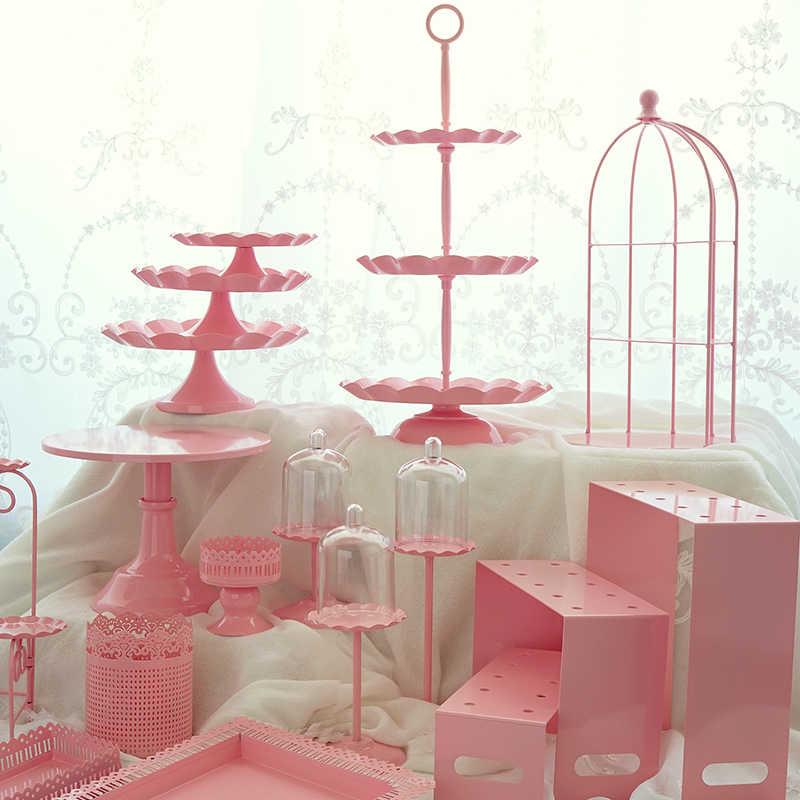 Фото Розовая стойка для кексов пирожное Корзиночка лоток клетка торта на день