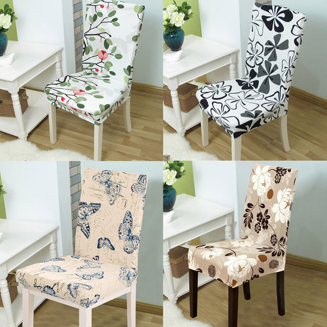 1pc Stretch Spandex Dining Chair Covers for Wedding Party Banquet Folding Hotel Chair Covering Housse Chaise Manger Extensible