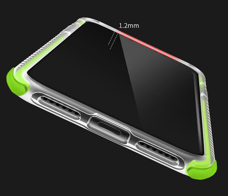 Military grade Anti-knock Case For iPhone X iPhone 7 case soft clear Transparent 2 in 1 TPU+TPE Cover for iPhone 6 6s 7 8 plus (11)