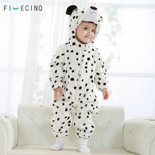 Snow Leopard Kigurumi Onesie Baby Winter Animal Cosplay Costume Cute Kawaii Suit  Little Boy Girl Sleep Wear Birthday Party Gift