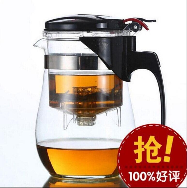 New arrival  500ml  Heat Resistant Glass Tea Pot Flower Tea Set Puer kettle Coffee Teapot Convenient Office Teaset 1pcs huangshan maofeng