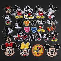 Mix Design Mickey Minnie Patch Eisen Auf Cartoon Patches Für Kleidung Günstige Nähen Stickerei Patches Für Kinder Kleidung Appliques