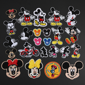 Mix Design Mouse Patch Iron On Cartoon Patches For Clothing Cheap Sewing Embroidery Patches For Kids Clothes Appliques(China)