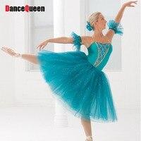 2016 Romantic Ballet Dress For Children Sky Blue Girls Professional Ballet Tutu Kids Classical Ballet Costumes