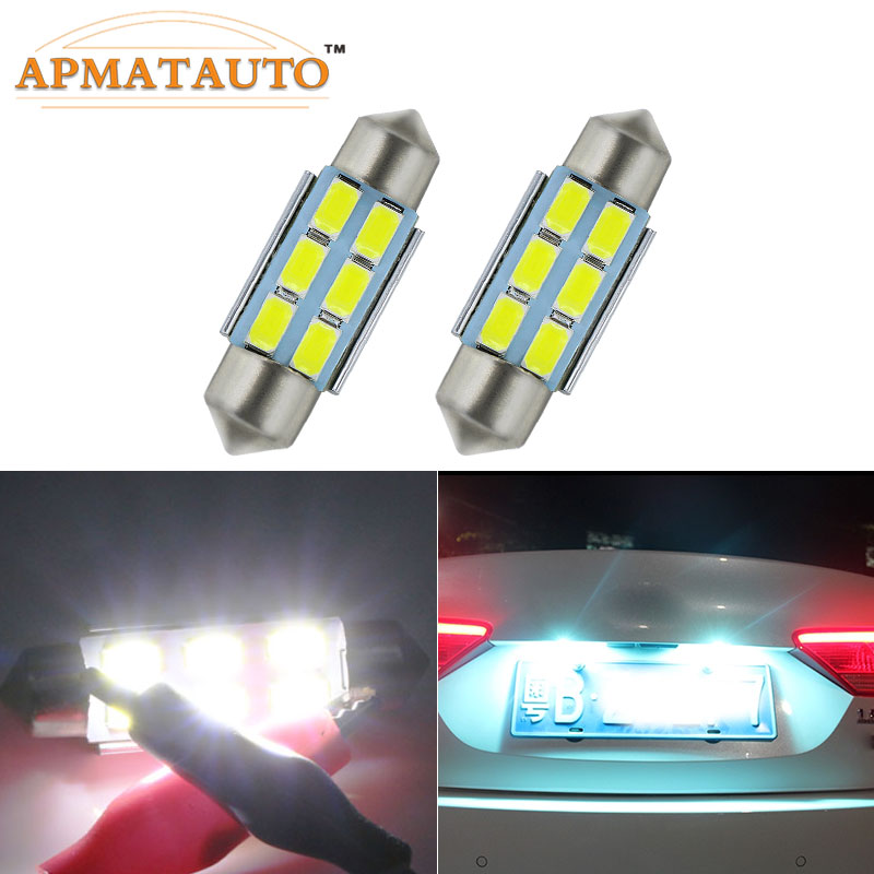 2x Volvo S80 MK3 Bright Xenon White 3SMD LED Canbus Number Plate Light Bulbs
