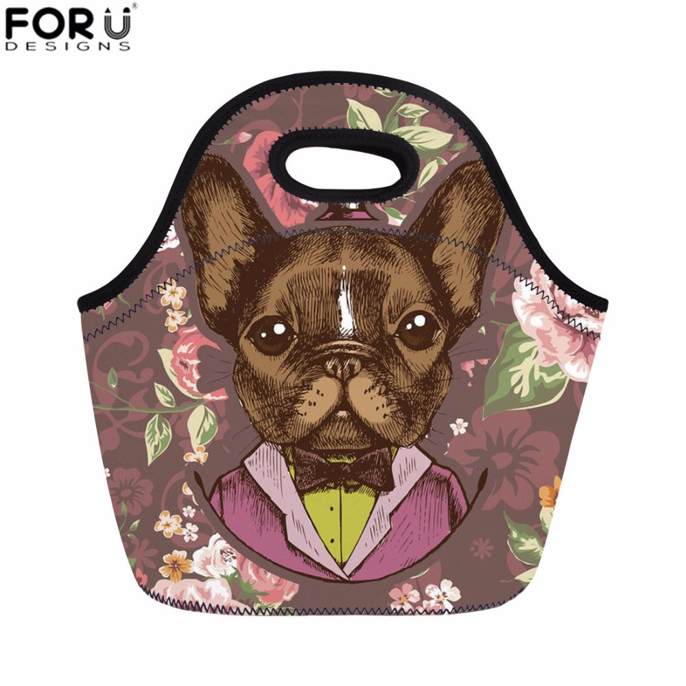 FORUDESIGNS Picnic Bag Chihuahua Print Lunch Bag for Women Kids Girls Thermal Food Bag Student Meals Sacola for School Bolsa New