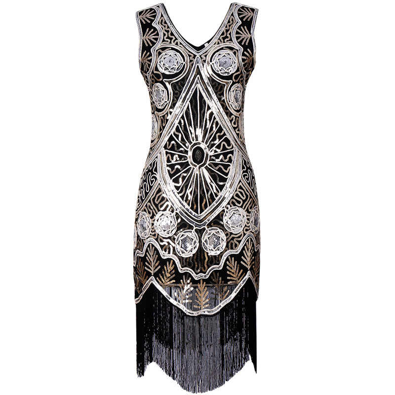 Women s Clothing 1920s flapper great gatsby dress vintage glitter beading  sequin short party gown embroidery dress cd13c8679bdb