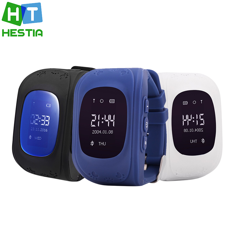 HESTIA BRAND Smart Kid Safe GPS Q50 Watch Wristwatch SOS Call Finder Locator Tracker for Kid
