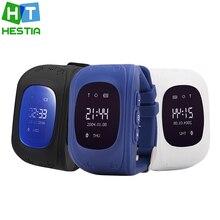 Гестия бренда smart детские безопасные GPS Q50 часы наручные часы SOS вызова Finder Locator Tracker для малыша детский анти-потерянный Монитор подарок для ребенка