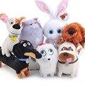 7 unids/lote Nuevo 2016 Los Mascotas Animales de Peluche Juguetes Del Perro bola de Nieve Conejo Pájaro Lma Max Compinche Gidget Lindo Animales de Peluche juguetes