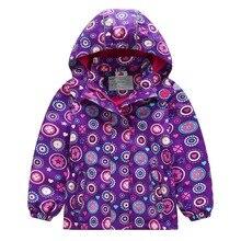 Warm Child Coat Lavender Baby Girls Jackets Waterproof Children Outerwear Thicken Polar Fleece Autumn Winter For 3-12 Years Old цены