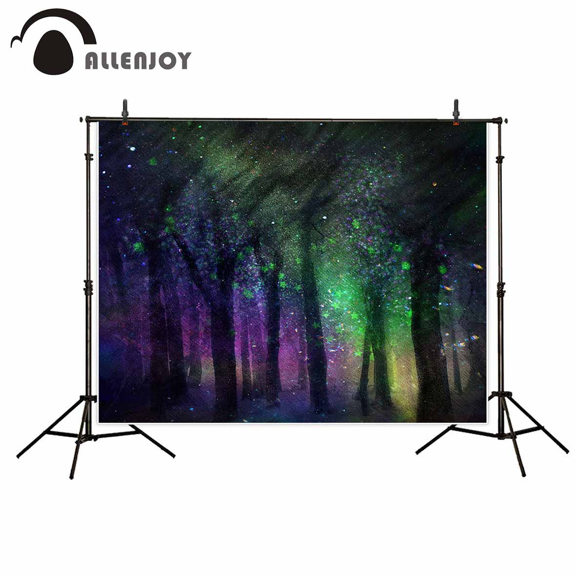 Allenjoy background for photo watercolor forest bokeh tree children fairy tale backdrop photocall portrait shooting