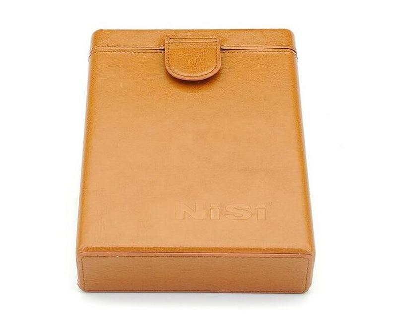 NiSi Portable Genuine Leather <font><b>Filter</b></font> Holder Storage Protector Case Pouch Bag <font><b>Box</b></font> for 100*100mm/100*150mm Square <font><b>Filters</b></font> <font><b>6</b></font> Slots