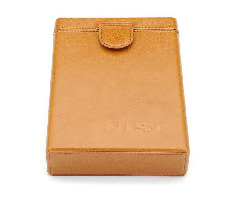 Prix pour NiSi Portable Véritable En Cuir Porte-Filtre Protecteur de Cas De Stockage de Poche Sac Boîte pour 100*100mm/100*150mm Filtres Carrés 6 Slots