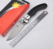 Spyderco C173 Tactical Knife Meisai Handle 5Cr13Mov Blade Folding Knife Outdoor Camping Survival EDC Hand Tool