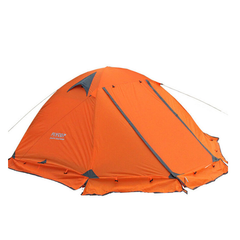 High Quality Tourism Tents 2 person 3-4 Outdoor Camping Equipment Waterproof Double Layer Dome Aluminum pole Camping Tent FLYTOP waterproof tourist tents 2 person outdoor camping equipment double layer dome aluminum pole camping tent with snow skirt