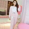 XXL Tamaño Grande Invierno de Las Mujeres Conjuntos de Pijama de Franela Pijamas Pijamas Mujeres Pijama Pijama Mujer Más Tamaño Pijamas Pijamas Feminino Entero