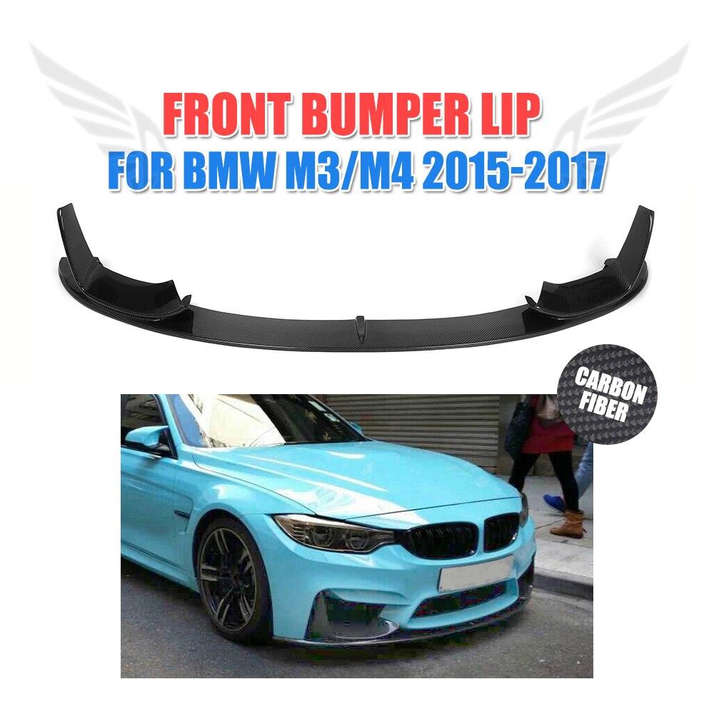 Front Lip Spoiler Chin for BMW F80 M3 F82 M4 Bumper 2015-2017 Carbon Fiber / FRP Front bumper guard Car Tuning Parts