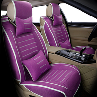 Universal flax car seat cover for Audi A6L R8 Q3 Q5 Q7 S4 RS Quattro A1 A2 A3 A4 A5 A6 A7 A8 auto accessories car stickers