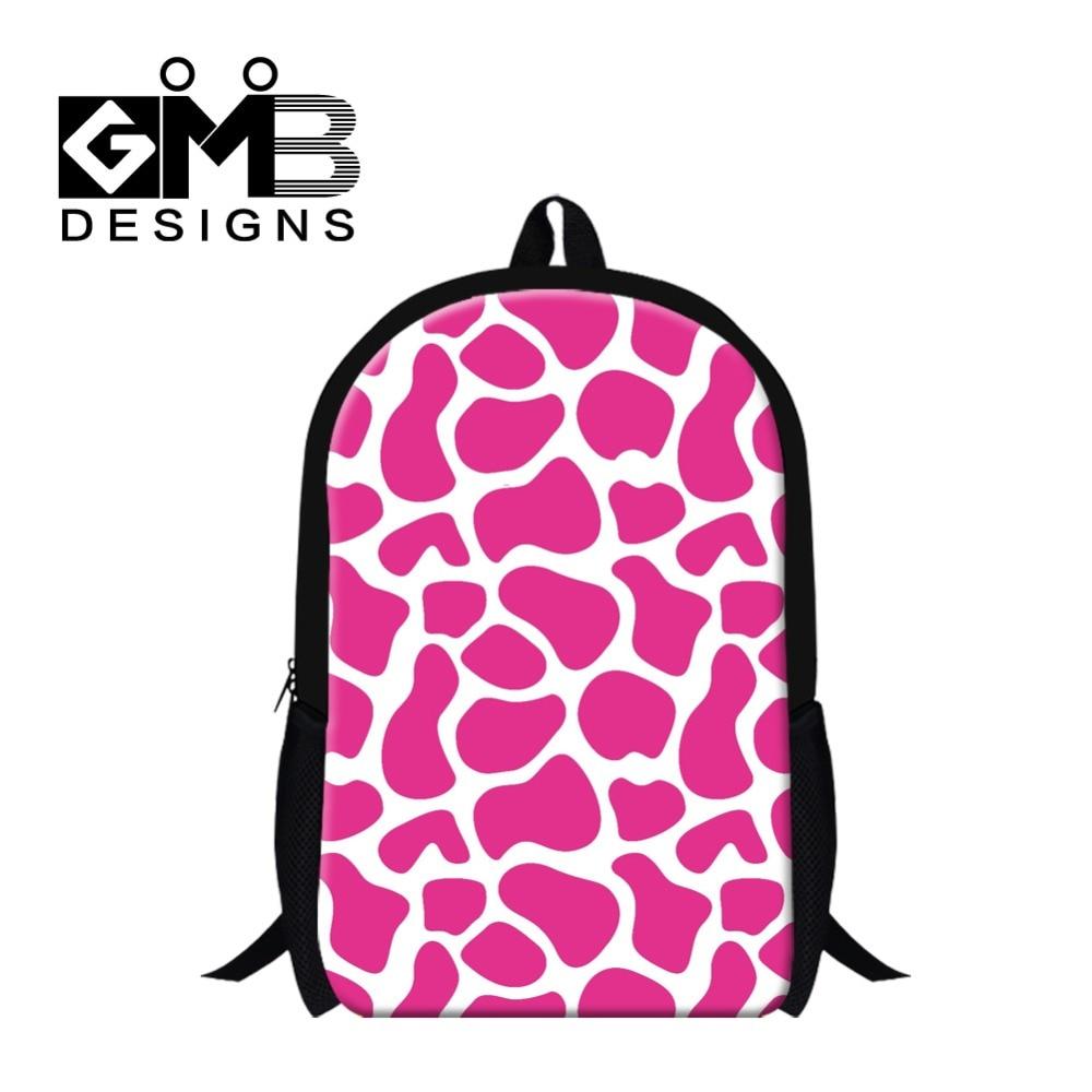 Stylish Giraffes Pattern School Bookbags for Children,Colorful Animal ...