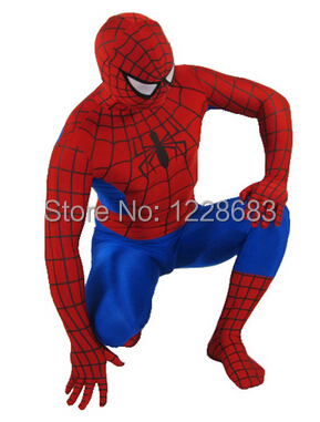 Superhero Adult Spiderman Costume Adult Halloween Cosplay Lycra Spandex Full Bodysuit Plus Size Spiderman Costume For Men