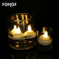 Home Decoration Feste Religiosa Votive Water Floating Candle & Plastica Impermeabile Mini Led Tea Light Candle 12 pz/scatola