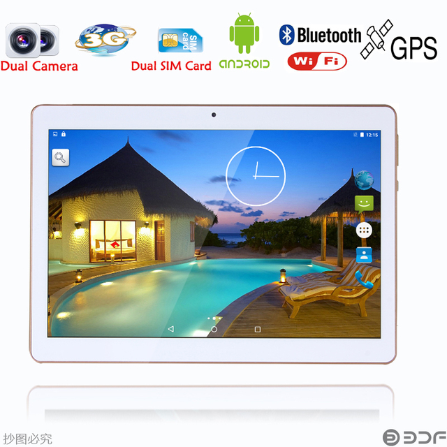 10 inch 3G Phone Call SIM card Android 5.1 Quad Core CE Brand WiFi GPS FM 2GB+16GB Android 5.1 Tablet Pc