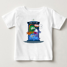 Digital print children T-shirt space flight alien boy girl funny cartoon pure cotton breathable