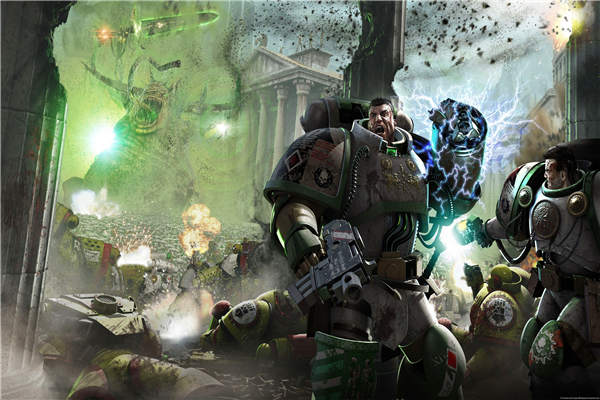 Custom Canvas Art Warhammer 40K Space Marine Poster 40000 Game Wallpaper Horus HeresyWall Stickers Home Decor 736 In Wall From