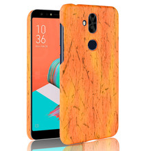 SuliCase Leather Case for Zenfone 5 Lite ZC600KL Wood Grain Hard Cover Asus PC Frame