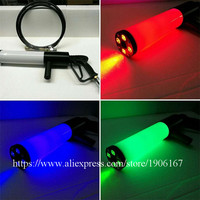 RGB Colorful Handheld Led Co2 Gun Cryo LED DJ Co2 Jet Machine Pistol Special Effects CO2 Cannon Guns With Gas Hose