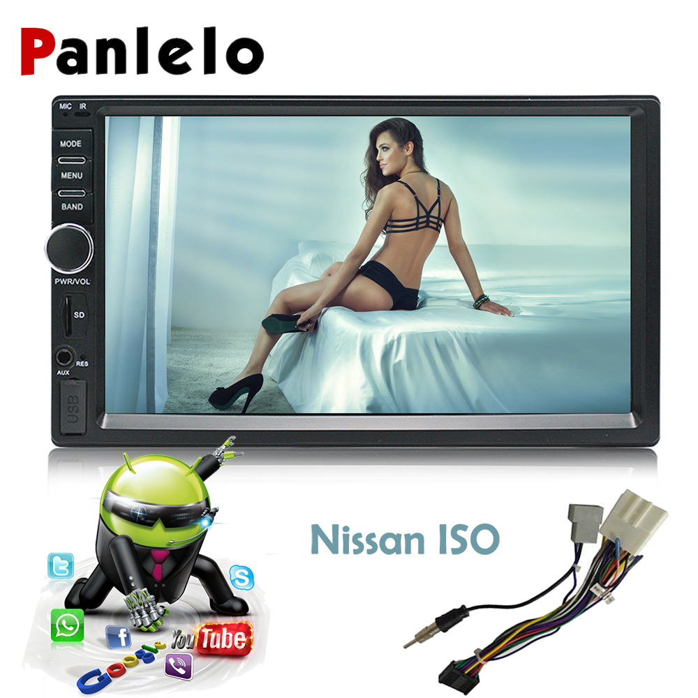 Panlelo Auto Radio 2 Din 7 Inch Android Car Stereo Audio Bluetooth Wifi FM Radio Video Player GPS Navigation for Nissan Dvr/Dab eincar 7 inch auto radio double 2 two din car stereo android 6 0 quad core gps navigation 1080p video play bluetooth wifi fm am